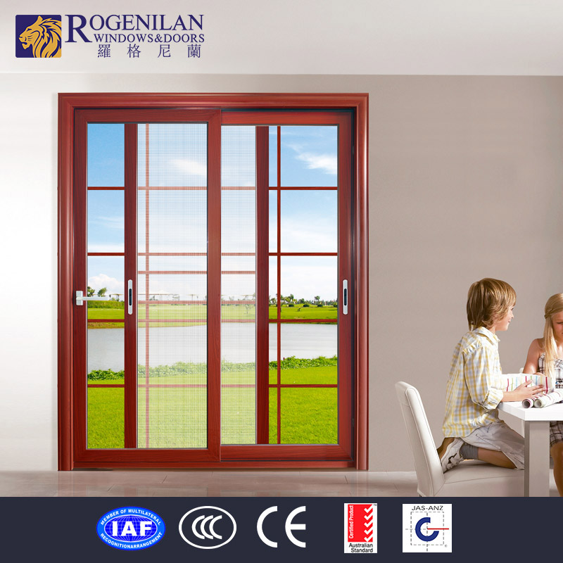 Rogenilan commercial interior aluminum glass sliding door for Commercial interior sliding glass doors