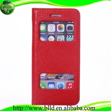 Ultra thin mobile phone leather cover for smart phone, leather cases for cell phone For iphone6