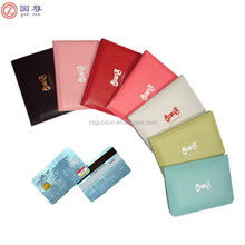 Colorful design Women Bowknot Leather Business ID Credit Cute Card Pocket Bag Wallet Holder Case
