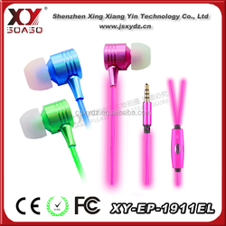 3.5mm invisible earphone el wire flash cute earphone for girl