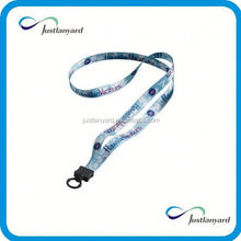 Low MOQ competitive price sublimation neck lanyard with mobile string