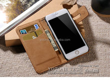 New geuine leather phone case / mirror case for iphone 6 / power bank case for iphone 6