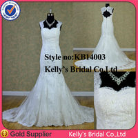 2014 hollow backless flounce embroidered fishtail taiwan wedding dress manufacture