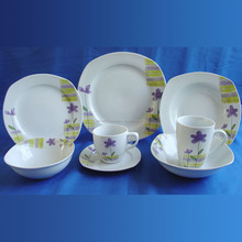 Quality hotel ware porcelain dinner set direct buy china, classic homeware AB porcelain tableware set