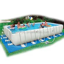 2015 Hot selling new wholesale Family Rectangular bracket frame pool / above ground swimming pool / PVC intex swimming poo