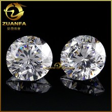 Wuzhou CZ supplier Wholesale CZ 1mm to 3mm zircon stone machine cut white zircon
