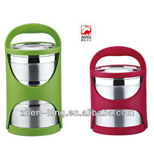 3 Layers Plastic Handle Stainless Steel Food Container