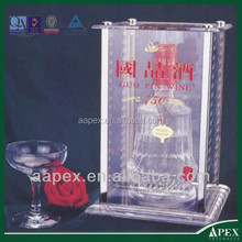 Ali made in China bar clear acrylic lighted fake wine bottles for display, wine bottle display rack, wine display rack
