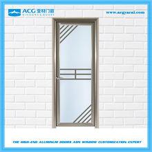 New design 1.2-2.5mm aluminum double swing door for kitchen