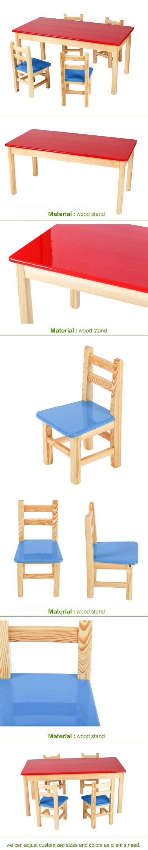 Gros nature bois enfant table et chaises