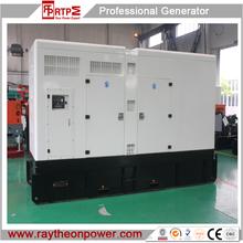Raytheon brand Power by cummins 1000kva diesel generator set, silent type generator,diesel engine generator set