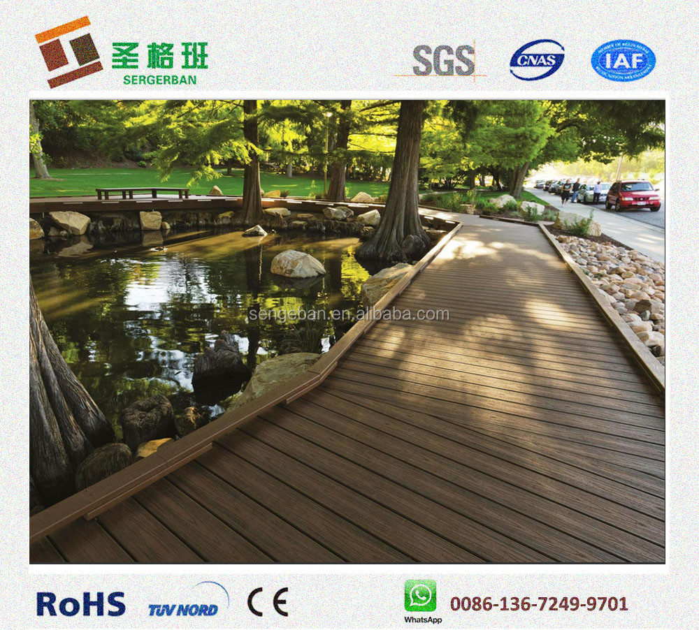 Eco Friendly Wpc Flooring Outdoor Veneer Decking Composite