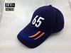 Long visor embroidery letters baseball cap Navy cotton golf hat baseball cap with metal closure