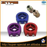 Aluminum Racing Oil Pressure Gauge Oil Filter Sandwich Adapter M20X1.5 3/4-16 1/8 NPT