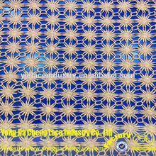 Yjc16026-1 moda francês laço bordado de flores de tecido para vestidos de noiva