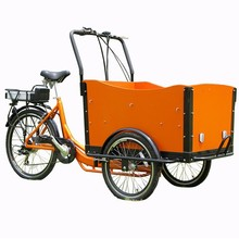 HOT SALE High quality trike bicycle with wooden cargo box popular in USA