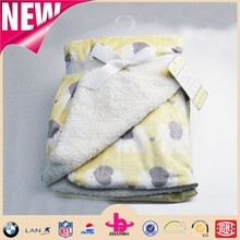 Super soft sherpa baby blanket/ elephant design with one side shu velveteen baby products for newborn infant