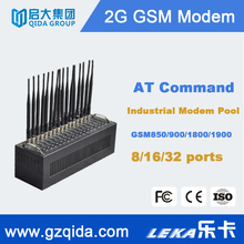 Multi sim card bulk sms sending device, wavecom gsm 16 port modem