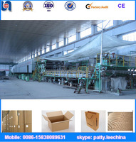 New condition waste paper recycling making machine complete kraft paper production line