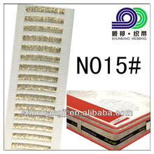 Golden and silver mattress edge tape use for mattress (N015#)