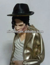 Super Star With Golden Clothes Michael Jackson Resin Figurine