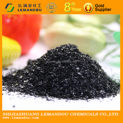 Huminrich Leonardite Source powder potassium humate flakes with Humic Acid 70%& K2O 15%