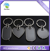 custom metal blank space black Keychain