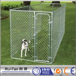 cheap large chain link iron fence designer dog kennels (factory)