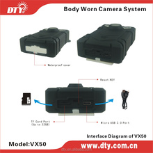 On sale Police Video Body Worn camera Body Worn Camcorder with high capacity battery(VX50)