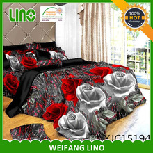 2015 new design wholesale home sense 3d polyester bedding set