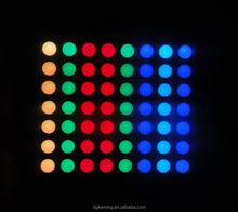 5 mm 8x8 rgb 8x8 dot matrix led display,60*60 dot matrix