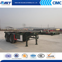 20ft/40ft two axle skeletal semi trailer