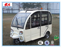 2015 perfect design durable800w closed electric passenger three wheel trike tricycle