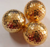 High Quality Golden Golf Ball New Electroplated Balls