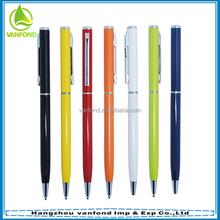 Classical design custom logo thin metal pen as hotel promotional pen