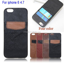 Wallet Leather&Silicon Card Holder Cell Phone Customized Wholesale Case for iphone 6 4.7''