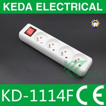 French style electric extension socket with switch