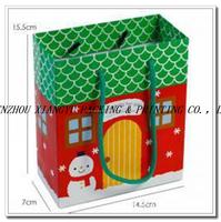 Custom printed Cheap Paper Christmas Gift Bag