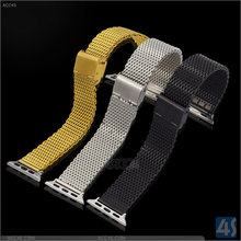 Fashionable Golden/Silver/Black Stainless Steel Bracelet For Apple Watch, Noble Watch Strap for Apple Watch