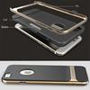 Hybrid Gold Hard Bumper Soft Rubber Case Cover Skin for Apple iPhone 6 4.7