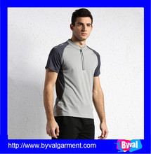 100% Polyester Quick Dry Moisture Performance Loose Fit Men's Athletic All Sports Training T Shirt