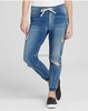 2015 simple clearance design high waist blue women joggers jeans 2 pockets wholesale,OEM service