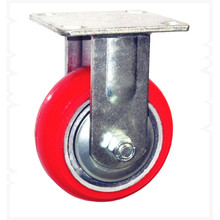 """small wheels for carts, 4"""" fixed PU industrial castor,light duty iron caster"""