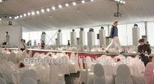 500 personas de boda grande de lujo carpa carpa para fiestas con forma de T etapa