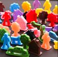 Cor crua 3d figura de plástico paisagem figura brinquedos de plástico cenário plastic figura estátua