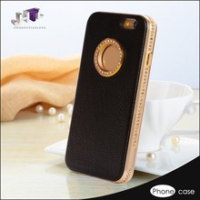 Camera Lens Stand Leather Case Cover For Mobile Phone