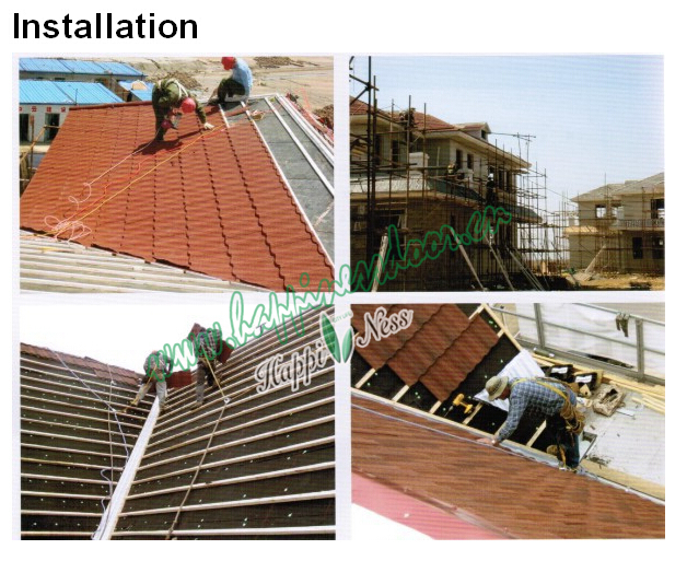Fire Resistant Roof Tile : New product fire resistant building material for