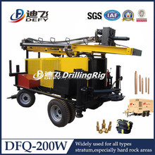 Comprehensive China manufacturer, DFQ-200W portable water well drilling equipment