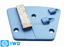 Abrasive block/ High quality, low price Top PCD Tipped Diamond Grinding Shoes with single round segment
