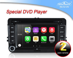 7 Double din touch screen car dvd player for vw touran/passat/golf/polo gps car radio